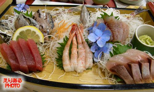 夕食の舟盛@館山シーサイドホテル