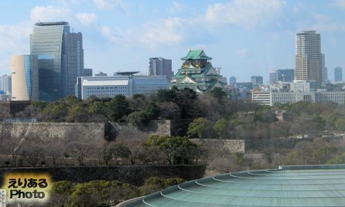 ホテルニューオータニ大阪から見た大阪城