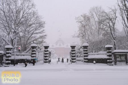 大雪の北海道庁旧本庁舎