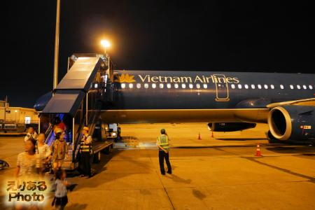 タンソンニャット(ホーチミン)空港に到着したベトナム航空