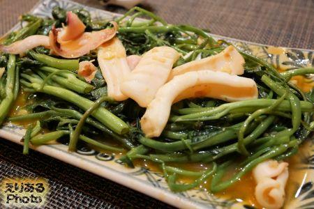 イカと空心菜の炒め@Denlong〜Lantern〜