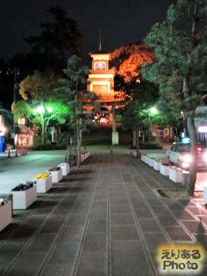 夜の尾山神社